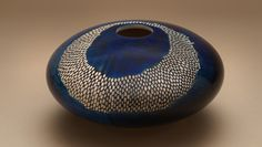 Sycamore: stained and carved hollow vessel