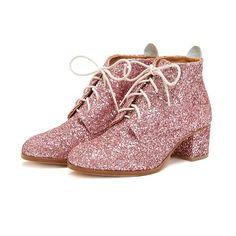 good genes booties - pink glitter