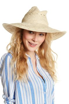 Rustic Woven Floppy Hat