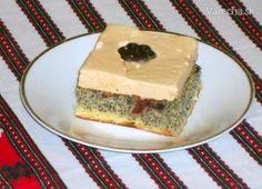 Makový koláč s karamelovou šľahačkou (fotorecept) - recept | Varecha.sk Cheesecake, Desserts, Food, Basket, Tailgate Desserts, Deserts, Cheesecakes, Essen, Postres