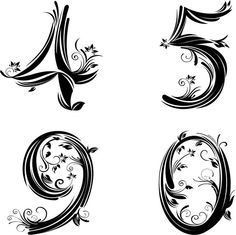 tattoo stencil numbers - Bing images