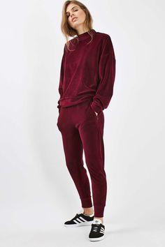 Velvet Batwing Sweatshirt - Tops - Clothing - Topshop Europe