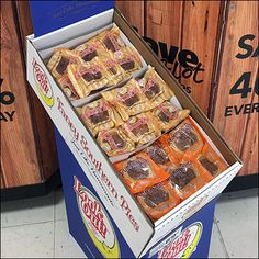 Fancy Southern Pies Corrugated Display Lie Low, Logo Color, Hooks, Bakery, Southern, Retail, Fancy, Display, Breakfast