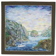 amazing quilt of her husband's favorite fishing spot
