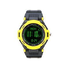 Lixada Spovan Multifunktions Uhr Outdoor Sports Digital LED-Armbanduhr - http://uhr.haus/lixada/gelb2-lixada-spovan-multifunktions-uhr-outdoor