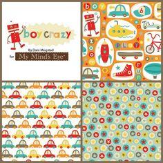Riley Blake Boy Crazy Flannel Fabric Bundle by flannelqueen, $30.00