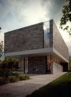 Best Ideas For Modern House Design & Architecture : – Picture : – Description house-m-by-bertrand-benoit-ronen Architecture Design, Residential Architecture, Amazing Architecture, Contemporary Architecture, Minimal Architecture, Architecture Panel, 3d Architectural Visualization, Architecture Visualization, Design Exterior