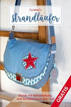 Strandläufer Download - Farbenmix Taschenschnittmuster - Ebook - Adventskalendertasche 2017