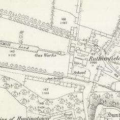 Huntingtower Ordnance Survey 25-inch 1860