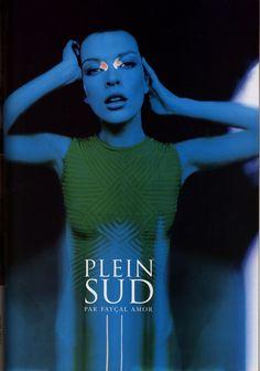 Milla Jovovich for Plein Sud S/S 1997. Photographer: Stephane Sednaoui.