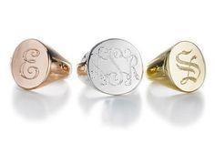 monogram pinky ring.....hmmmm??? the holidays are comin......