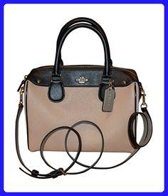 Coach Leather Geometric Colorblock Mini Bennett Shoulder Bag Handbag, Beechwood, Chalk, Multi - Top handle bags (*Amazon Partner-Link)