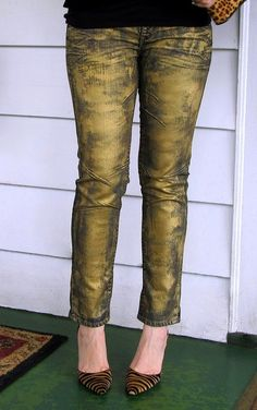 Gold Jeans- with more gold added:)