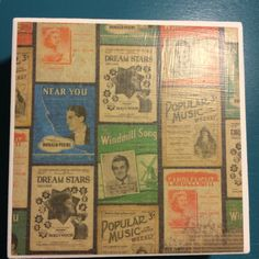 Vintage Song Music Coasters by CaseroByCindy on Etsy