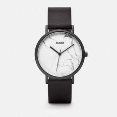 Montre La Roche Full Black/White Marble - CLUSE