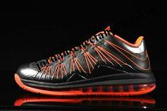 Nike LeBron X Low Black Orange