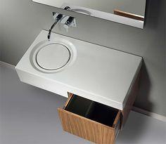 Round Bathroom Sinks, Modern Bathroom Fixtures with Classic Feel contemporary-basin-modern-bathroom-sinks Unusual Bathrooms, Modern Bathrooms Interior, Contemporary Bathroom Sinks, New Bathroom Designs, Modern Bathroom Design, Bathroom Interior Design, Modern Sink, Concrete Bathroom, Bathroom Basin