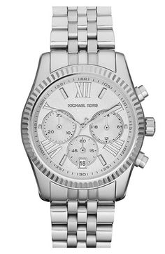 minus the circles int he middle. Michael Kors 'Lexington' Chronograph Bracelet Watch, 38mm available at #Nordstrom