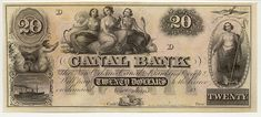Obsolete bank note & private scrip issued by State ~ Louisiana