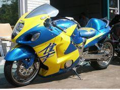 Ok maybe if it was a Hayabusa Suzuki Bikes, Suzuki Motorcycle, Motorcycle Types, Custom Street Bikes, Custom Sport Bikes, Concept Motorcycles, Cool Motorcycles, Custom Hayabusa, Stunt Bike