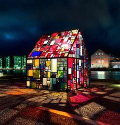 Stained glass house ☼ Copenhagen, Denmark