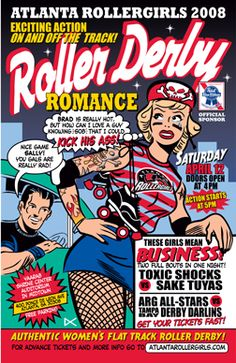 This guy created so many great bout posters for Atlanta Rollergirls!