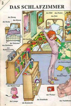 Das Schlaftzimmer - El dormitorio