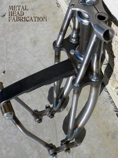 leaf spring forks detail | metal head fabrications