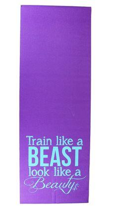 Train Like a Beast Yoga Mat