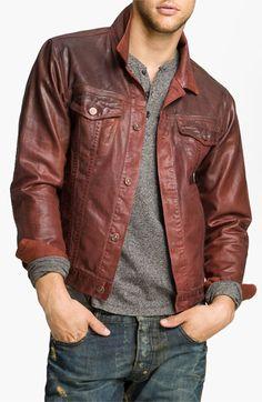 I love the finish of this coated denim jacket