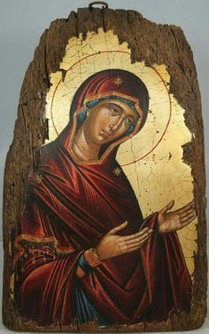 High quality hand-painted Orthodox icon of Theotokos Deesis c. BlessedMart offers Religious icons in old Byzantine, Greek, Russian and Catholic style. Byzantine Icons, Byzantine Art, Religious Icons, Religious Art, Paint Icon, Our Lady Of Sorrows, Russian Icons, Catholic Art, Orthodox Icons