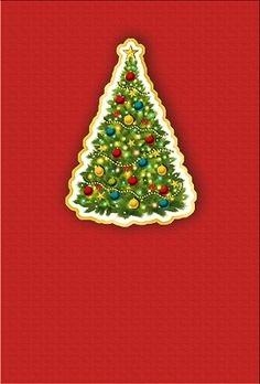 #Weihnachtskarte mit #Goldfolienprägung #Weihnachtsbaum, Einlage in naturweiß, inkl. Kuvert.