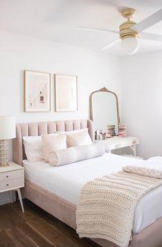 Unique Home Interior .Unique Home Interior Room Ideas Bedroom, Home Decor Bedroom, Modern Bedroom, Master Bedroom, Bedroom Rustic, Bedroom Black, Feminine Bedroom, Pink Gold Bedroom, Master Suite