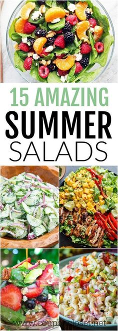 Take a look at these yummy Summer Salad Recipes. 15 of the best easy summer salads for you to try this summer. So light and tasty. summer food Summer Salad Recipes- 15 of the best easy summer salads Easy Summer Salads, Summer Salad Recipes, Healthy Summer Recipes, Summer Dishes, Easy Salads, Healthy Salad Recipes, Light Summer Meals, Summer Food, This Summer