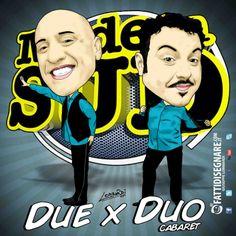 Ma sono bravissimi i DUE x DUO di Made in Sud #Completo #Draw #DueXDuo #Cabaret #comici #MadeinSud #comics #Rai2 #Diretta #GiuseppeLombardi #fattidisegnare #Caserta #Campania #CE #Napoli #Digital #Graphic #art #Adobe #illustrator #Photoshop — con Due X Duo CabaretTris