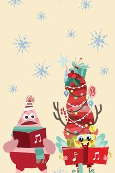 Sponge bob Nickelodeon wallpaper bob esponja merry Christmas Christmas Theme Wallpaper, Christmas Phone Backgrounds, Holiday Wallpaper, Christmas Background, Disney Wallpaper, Cartoon Wallpaper, Old Christmas Cartoons, Spongebob Christmas, Cookie Drawing