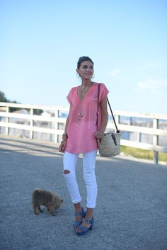 coral blouse   The Desire