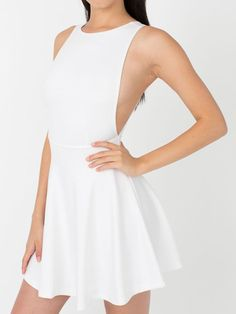 White Backless Skater Dress - Fashion Clothing, Latest Street Fashion At Abaday.com