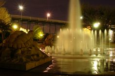 The fountain at Coolidge Park in Chattanooga