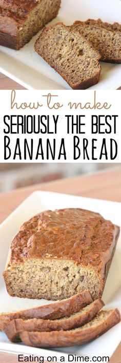 Seriously the Best Banana Bread recipe ever! You just have to try this super Moist Banana Bread Recipe - it is our family's favorite