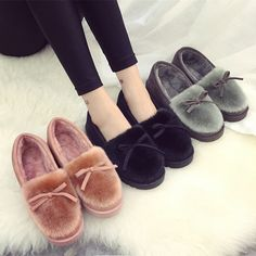 2017 Sales Hot Winter New Heavy-bottomed Female Cotton Slippers Plush Suede Slippers Warm Shoes Home Interior Slippers Size35-40