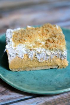 Easy No Bake Pumpkin Shortbread Bars Recipe - RecipeGirl.com