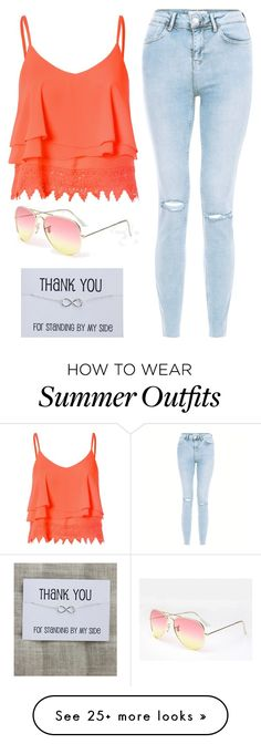 """Summer beach outfit"" by fab-life-939 on Polyvore featuring New Look and Glamorous"