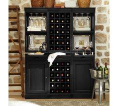 Modular Bar System with 1 Wine Hutch & 2 Open Hutch | Pottery Barn