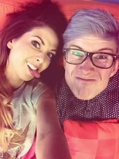 Zoe Sugg and Tyler Oakley @Tyler Oakley i love you! follow back?:*