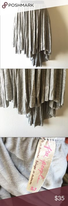 Free People high low grey skirt 🍂 this beauty could make so many different outfits. 🍂 excellent like new condition. Pet/smoke free home. Free People Skirts High Low