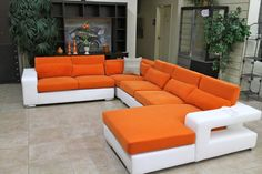 Global Orange 3 Pc Sectional - Colleen's Classic Consignment, Las Vegas, NV - https://cccfurnishings.com