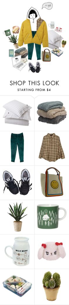 """""""Untitled #262"""" by milktop ❤ liked on Polyvore featuring Lexington, Retrò, New Balance, Anya Hindmarch, Danica Studio, Nearly Natural, Winter, cold, aesthetic and puffers"""