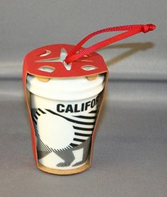 Starbucks 2015 Holiday Cup Ceramic Christmas Ornament California Bear * To view further for this item, visit the image link.