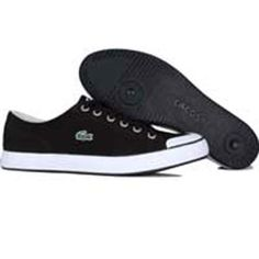 Lacoste Womens L33 Canvas (black / white) 14SRW7265-312 - $79.99